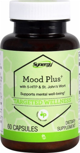 Vitacost  Synergy Mood Plus† with 5-HTP & St. John's Wort Perspective: front