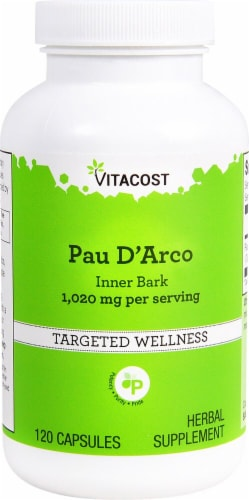 Vitacost Pau D'Arco Inner Bark Capsules Perspective: front
