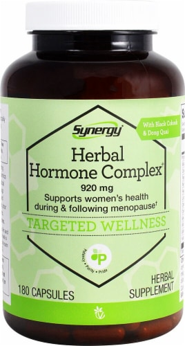 Vitacost Synergy Herbal Hormone Complex 920mg Perspective: front