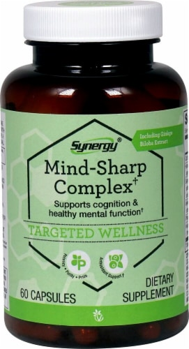 Vitacost Synergy Mind-Sharp Complex Capsules Perspective: front