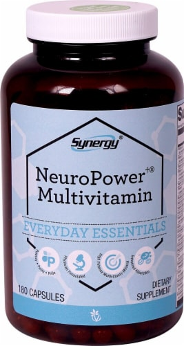 Vitacost Synergy NeuroPower Multivitamin Capsules Perspective: front