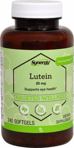 Vitacost Synergy Lutein with Zeaxanthin Perspective: front