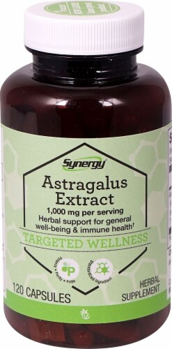 Vitacost Synergy Astragalus Extract Herbal Supplement Capsules 1000mg Perspective: front