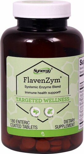 Vitacost  Synergy FlavenZym Systemic Enzyme Blend Perspective: front