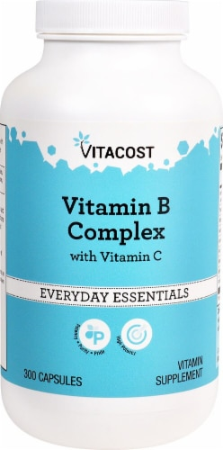 Vitacost  Vitamin B Complex With Vitamin C Perspective: front