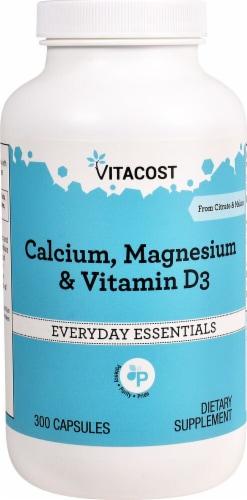Vitacost  Calcium Magnesium & Vitamin D3 Perspective: front
