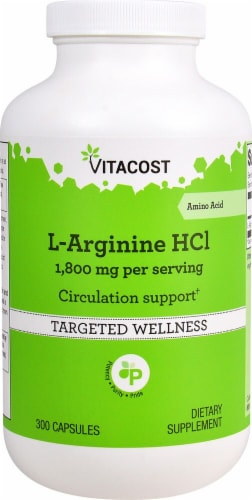 Vitacost  L-Arginine HCl Perspective: front