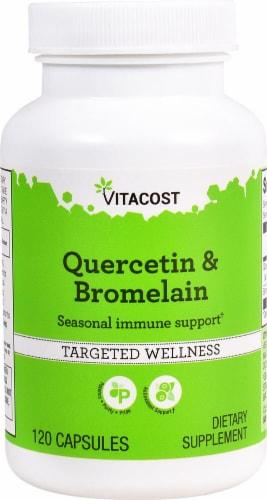 Vitacost Quercetin & Bromelain Capsules Perspective: front