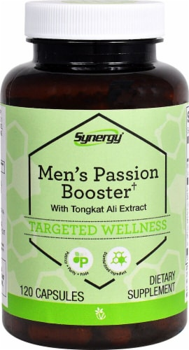 Vitacost Synergy Men's Passion Booster with Tongkat Ali Extract Capsules Perspective: front