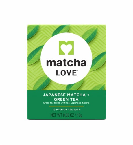Matcha Love Japanese Matcha and Green Tea Premium Tea Bags Perspective: front