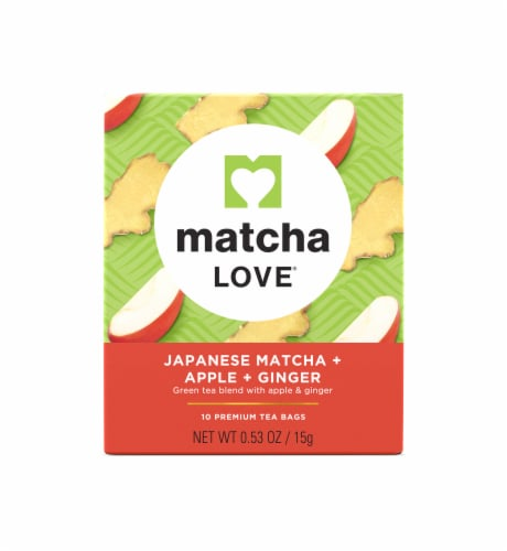 Matcha Love Japanese Matcha Apple Ginger Tea Bags Perspective: front