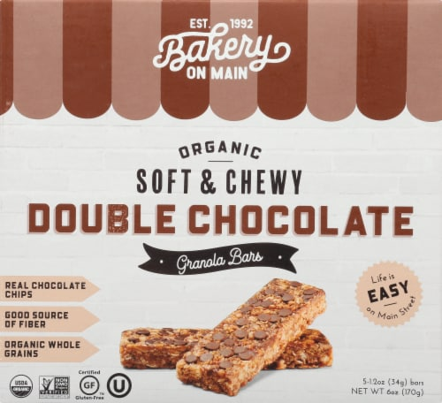 Bakery On Main Double Chocolate Granola Bars Perspective: front
