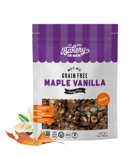 Bakery on Main MCT Oil Grain Free Clusters Trail Trek Blend Granola Perspective: front