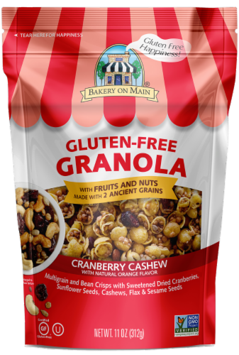 Bakery on Main Cranberry Orange Cashew Granola - Gluten Free Perspective: front