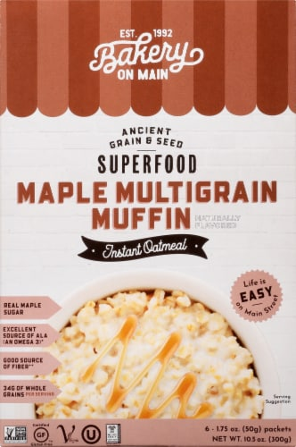 Bakery on Main Maple Multigrain Muffin Instant Oatmeal - Gluten Free Perspective: front