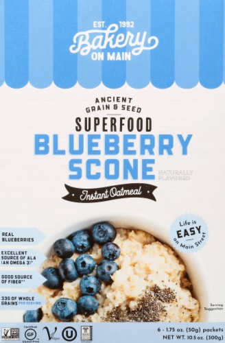 Bakery On Main Gluten Free Blueberry Scone Instant Oatmeal Perspective: front