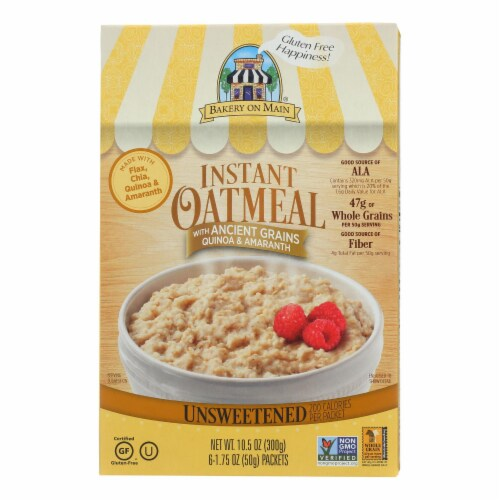 Bakery On Main Instant Oatmeal - Case of 6 - 10.5 oz. Perspective: front