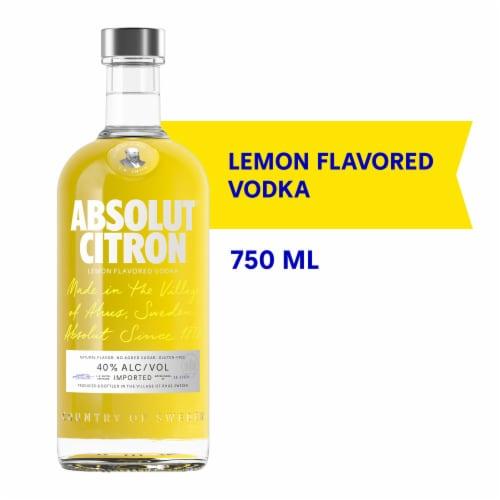 Absolut Citron Vodka Perspective: front
