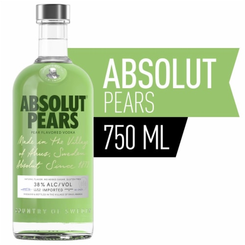 Absolut Pears Vodka Perspective: front