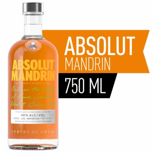Absolut Mandrin Vodka Perspective: front
