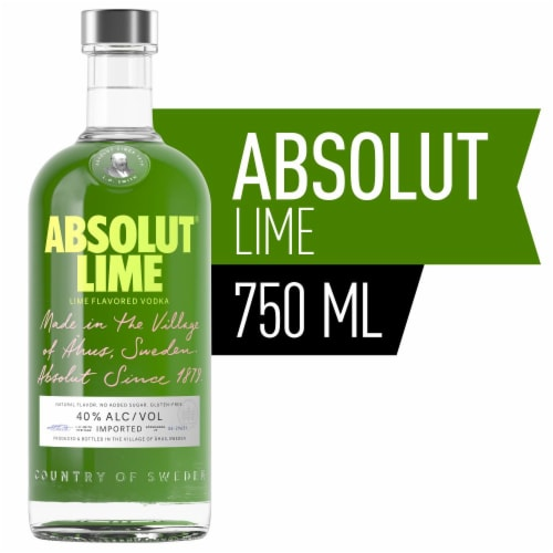 Absolut Lime Vodka Perspective: front