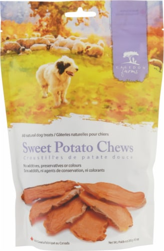 Caledon Farms Sweet Potato Chews All Natural Dog Treats Perspective: front