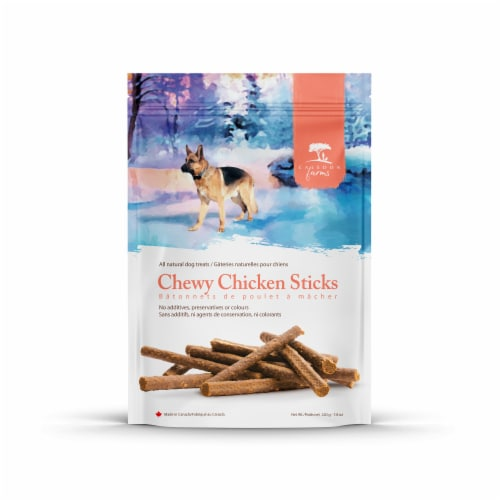 Caledon Farms Chicken Chewy All Natural Dog Treats Perspective: front