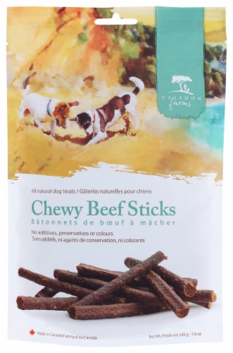 Caledon Farms Beef Chewy All Natural Dog Treats Perspective: front