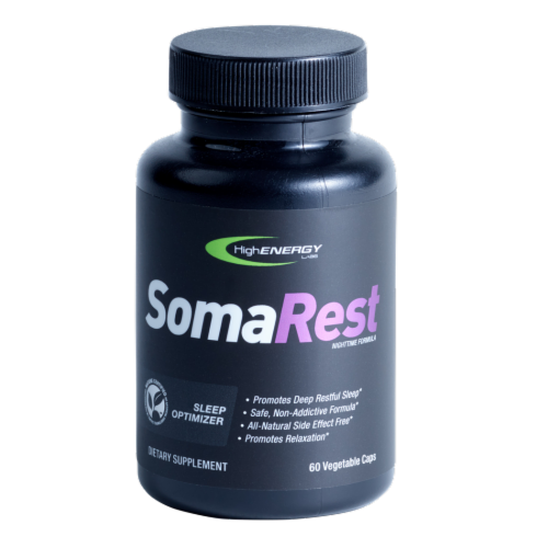 High Energy Labs SomaRest Sleep Supplement Perspective: front