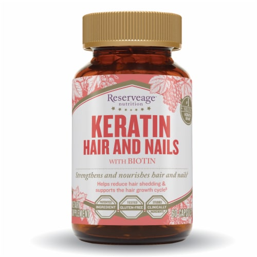 Reserveage Nutrition™ Keratin Hair & Nails Capsules Perspective: front