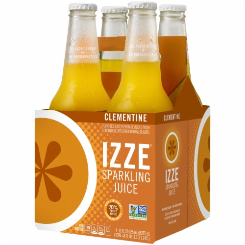 IZZE Sparkling Clementine Flavored Juice Drink Perspective: front