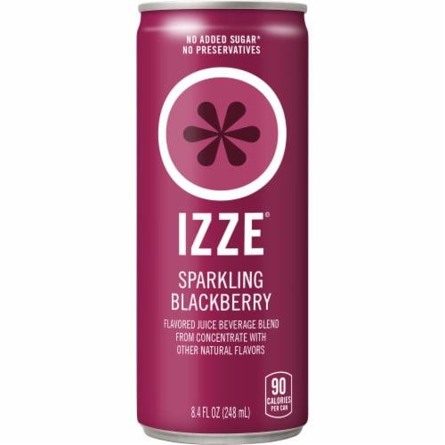 IZZE Sparkling Juice Beverage Blackberry Flavored Juice Drink Perspective: front