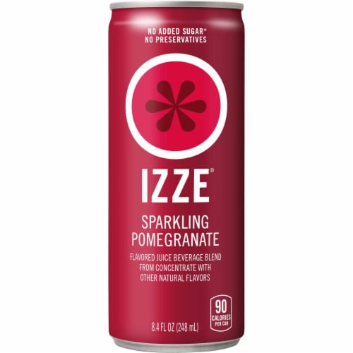 IZZE Sparkling Juice Pomegranate Flavored Juice Drink Perspective: front