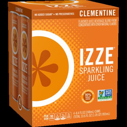 IZZE Sparkling Juice Beverage Clementine Flavored Juice Drink Perspective: front