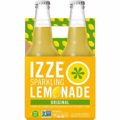 IZZE Sparkling Juice Lemon Flavored Juice Drink 4 Count Perspective: front