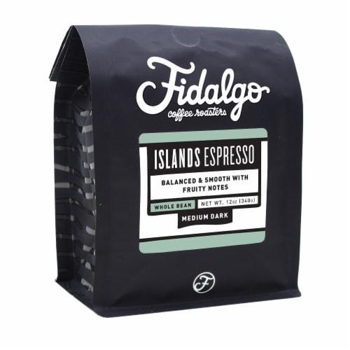 Islands Espresso, Whole Bean, 12oz bag Perspective: front