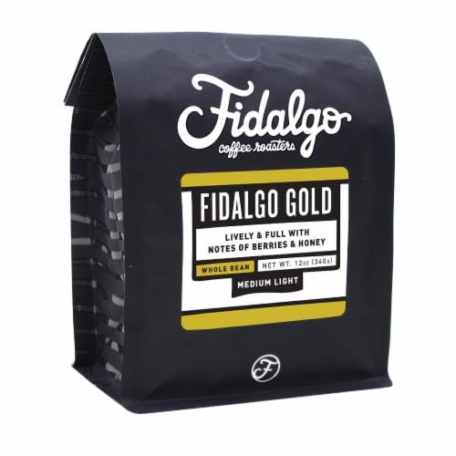 Fidalgo Gold, Whole Bean, 12oz bag Perspective: front