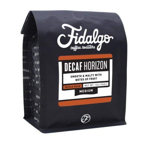 Decaf Horizon, Whole Bean, 12oz bag Perspective: front