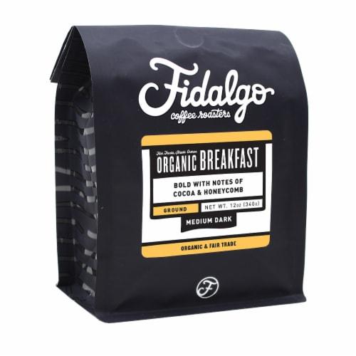 Organic Breakfast Blend, Drip Grind, 12oz bag Perspective: front