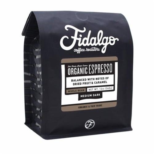 Organic Espresso, Whole Bean, 12oz bag Perspective: front