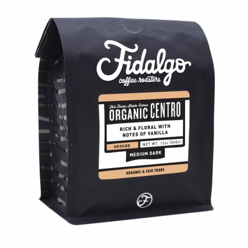 Organic Centro, Drip Grind, 12oz bag Perspective: front