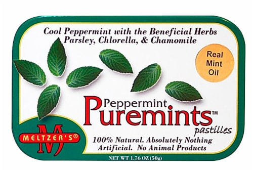 Meltzer's Peppermint Puremints Perspective: front