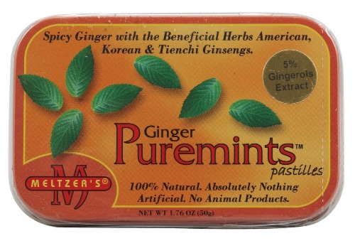 Meltzer's Ginger Puremints Perspective: front