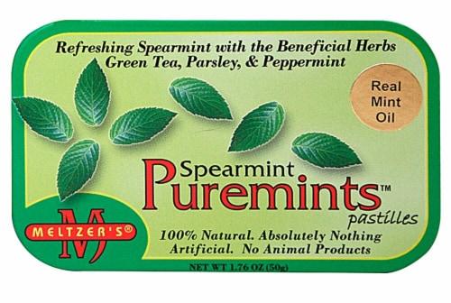 Meltzer's Spearmint Puremints Perspective: front