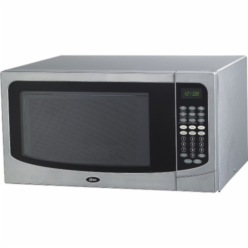 Oster® 1000W Microwave Oven - Stainless Steel Perspective: front