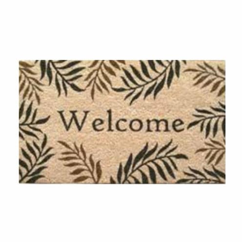 Home & More 12072 Fern Welcome Doormat Perspective: front