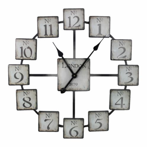 Saltoro Sherpi Classic and Uniquely Designed Metal Wall Clock Perspective: front