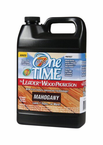 One TIME  Semi-Transparent  Mahogany  Wood Preservative  1 gal. - Case Of: 1; Perspective: front