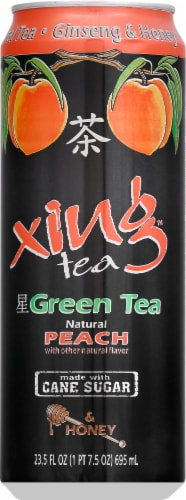 Xing Green Tea with Peach & Honey Perspective: front