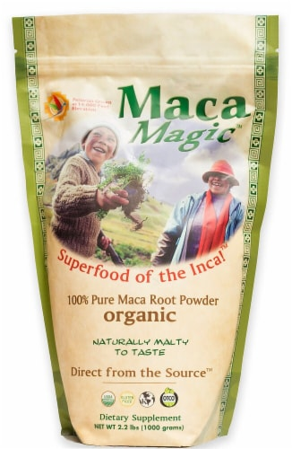 Maca Magic Organic Pure Maca Root Powder Perspective: front